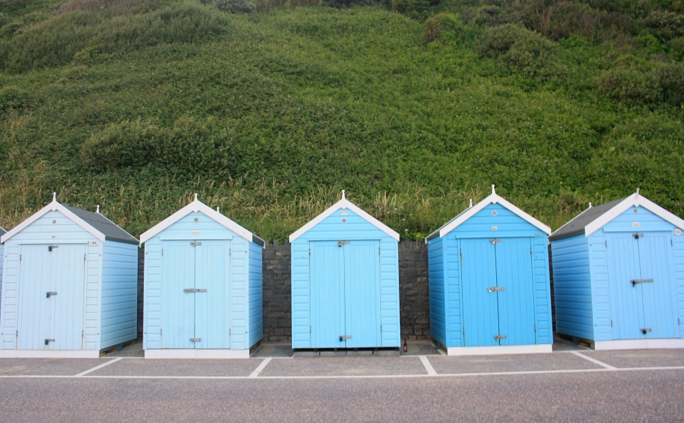 Blue bathing hut Bournemouth