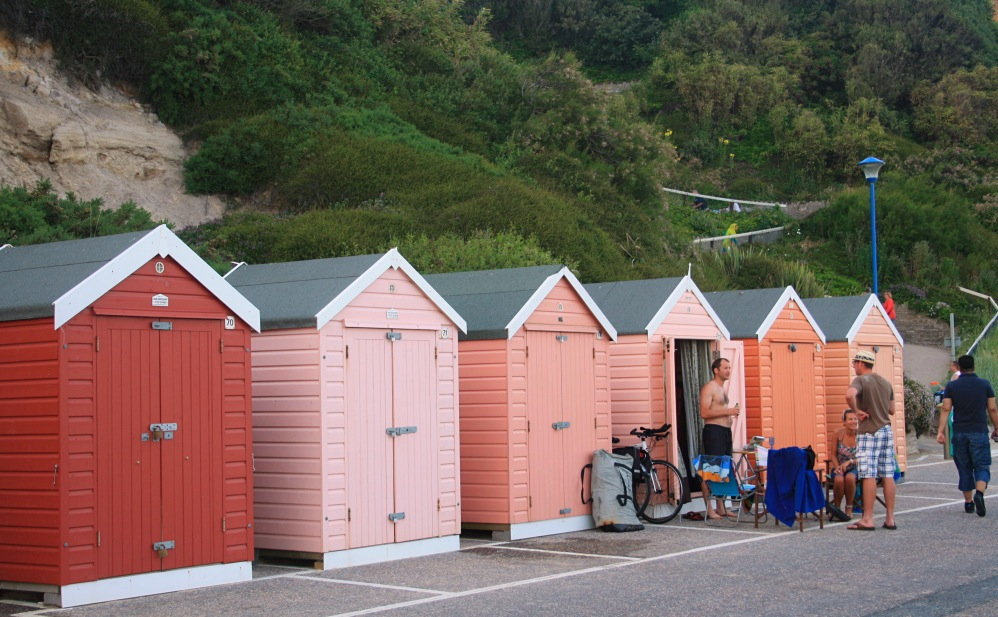 Orange Bathing hut