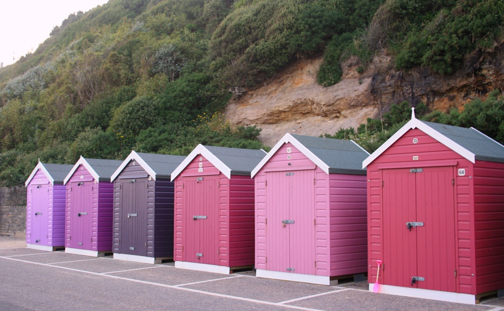 Pink Bathing hut Bournemouth