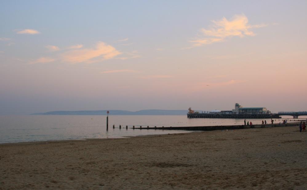 Plage Bournemouth sunset