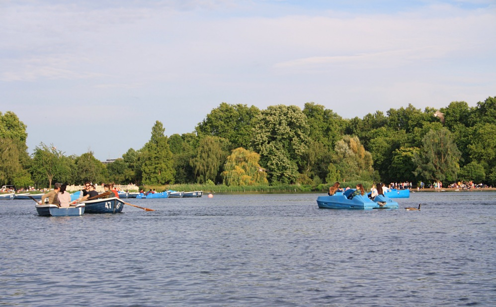 Hyde Park pedal boat