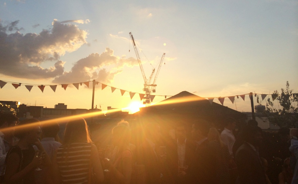 Sunset Queen of Hoxton Rooftop 2