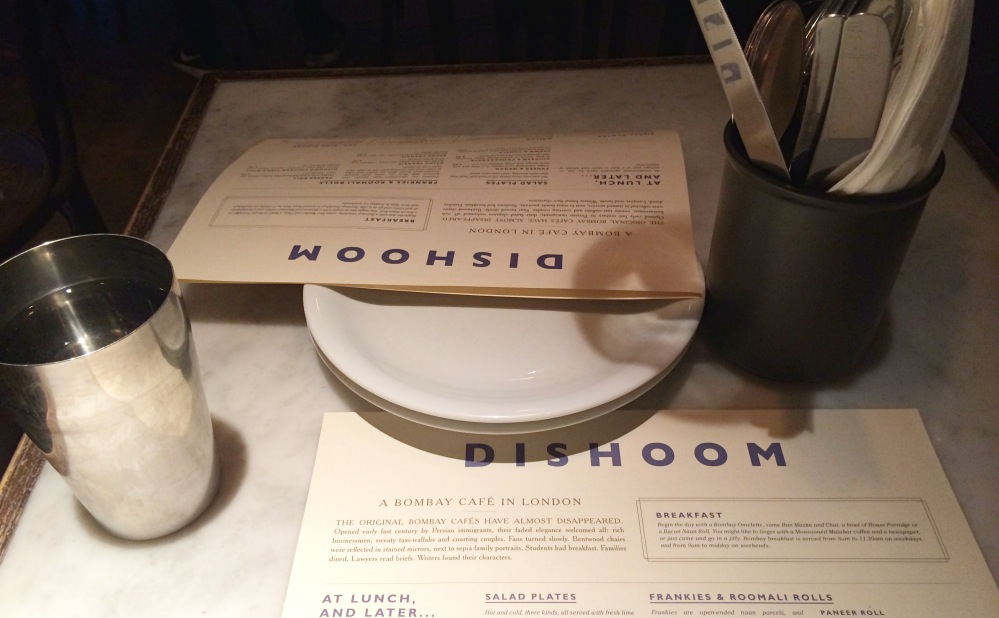 Menu Dishoom
