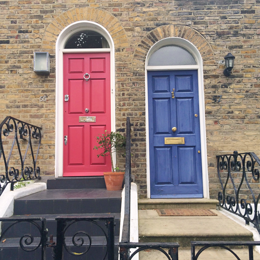 Red and Blue doors