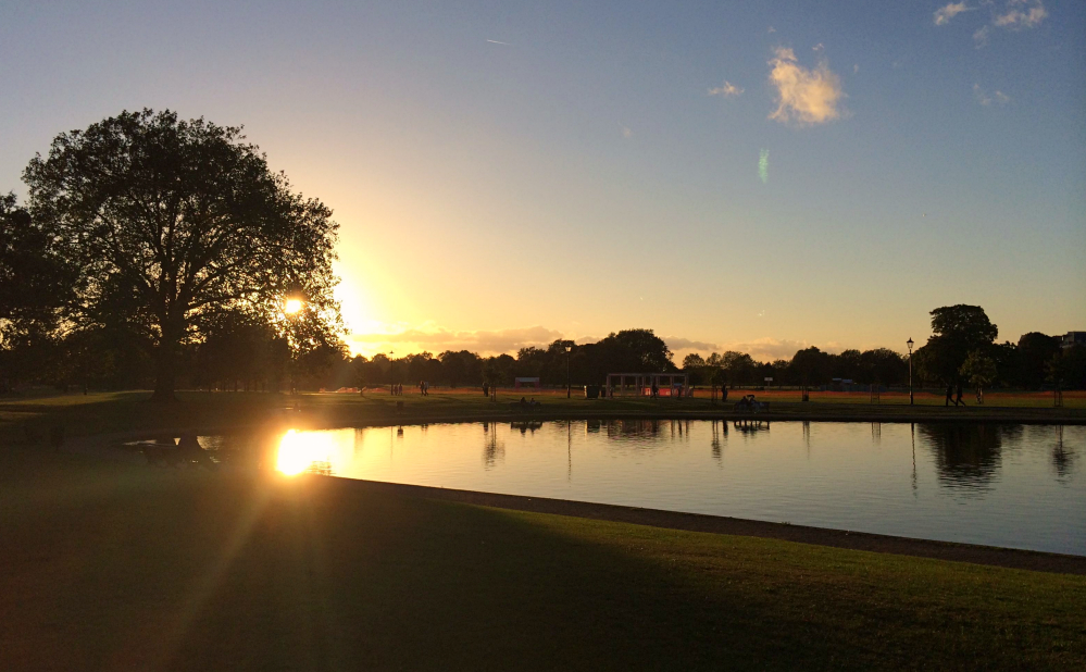 Sunset Clapham common