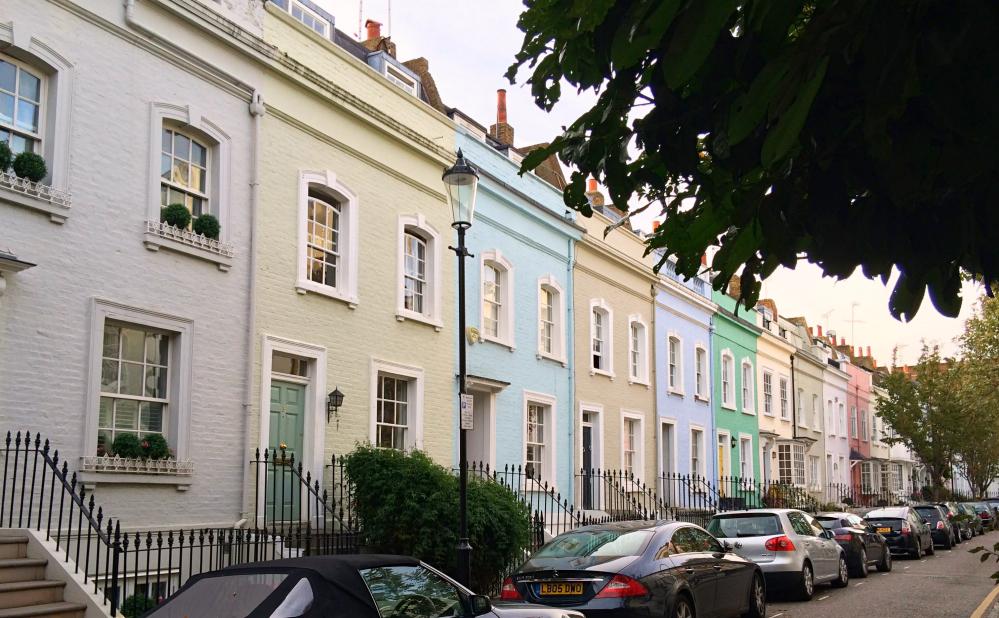 Balade Chelsea - maisons colorées