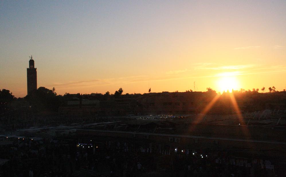 Coucher de soleil Jema El Fna 2