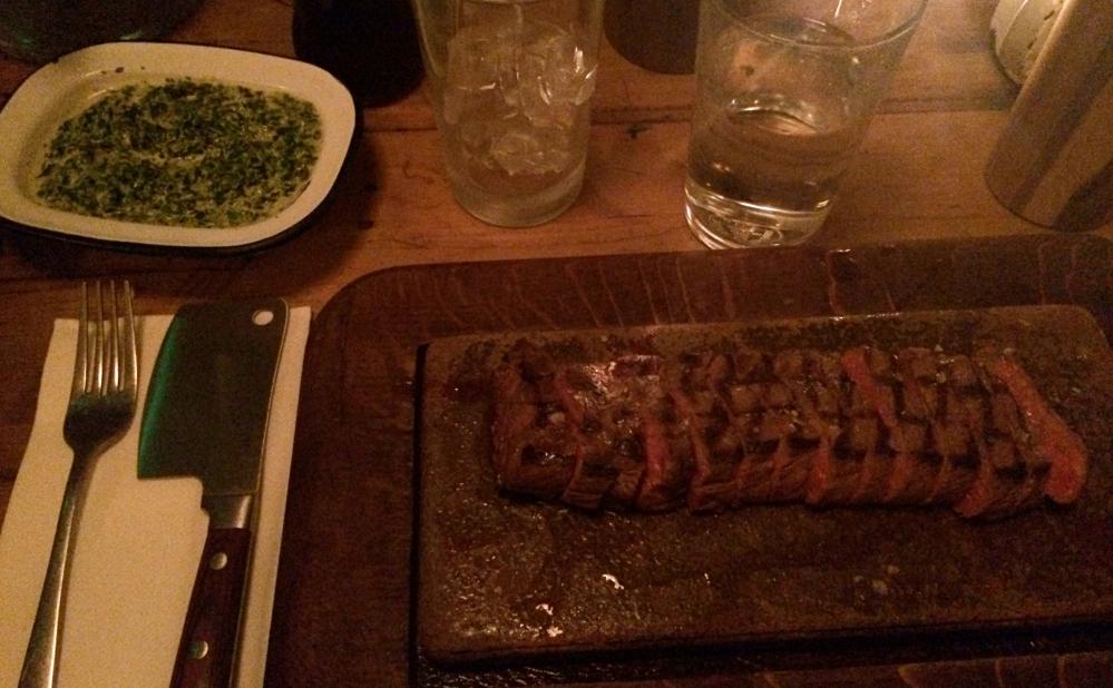 Flat iron meat