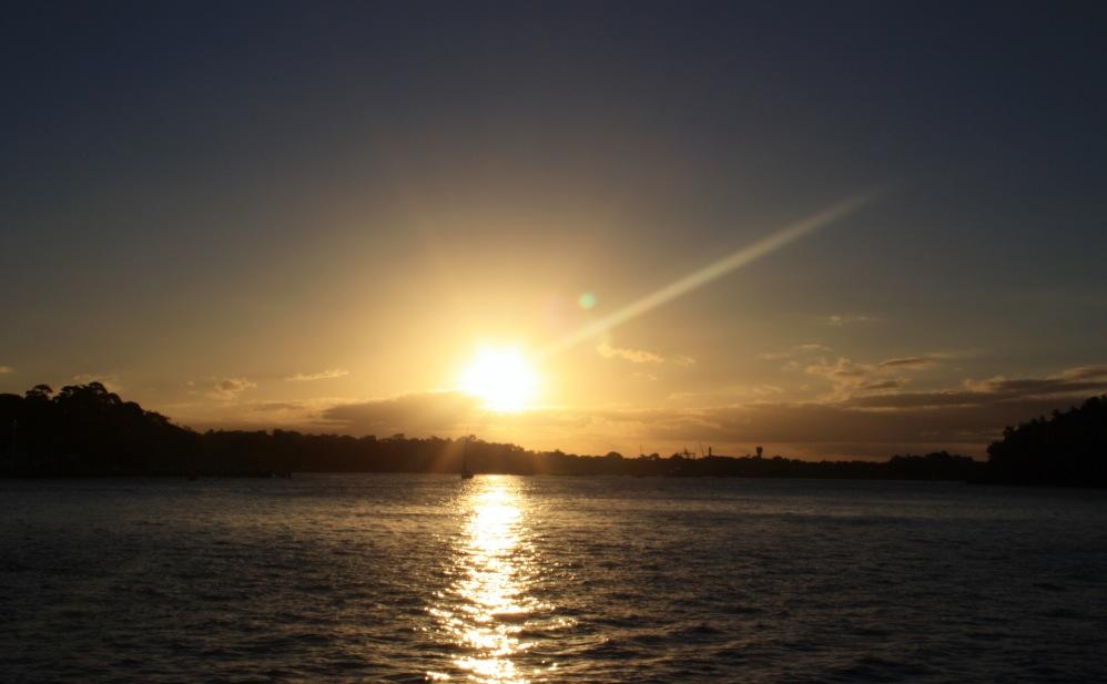 2 semaines à Sydney_Coucher de soleil blues point 4