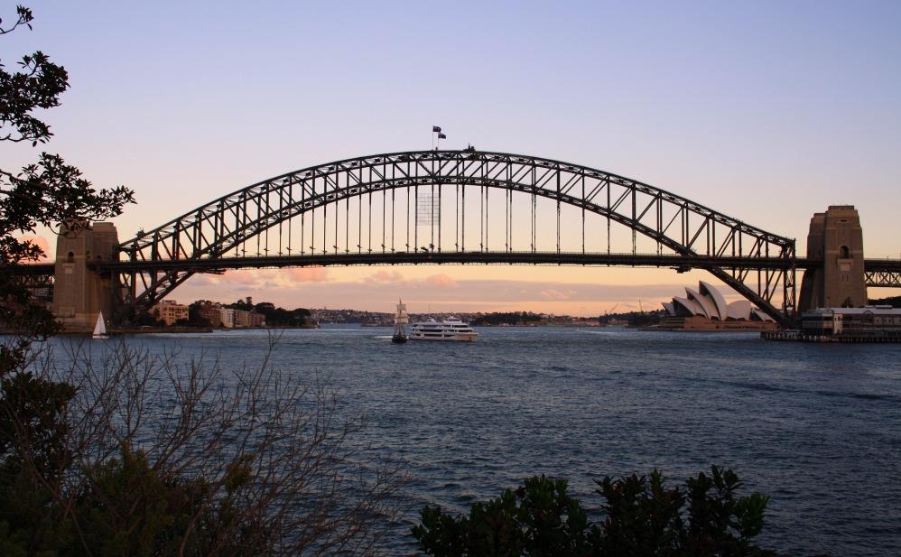 2 semaines à Sydney_Coucher de soleil blues point 5