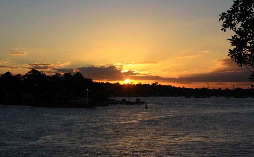 2 semaines à Sydney_Coucher de soleil blues point 7
