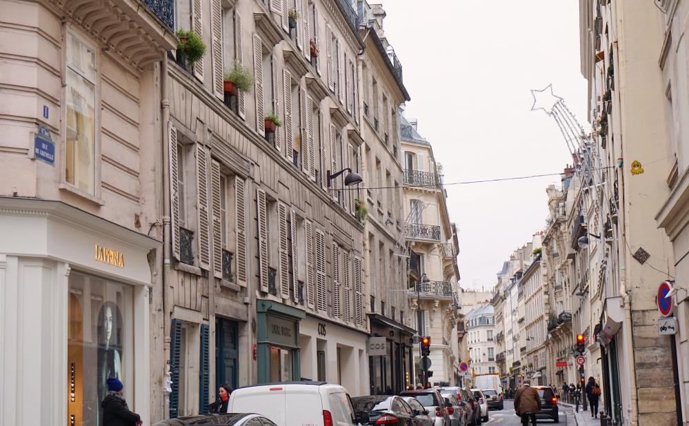 Rue Parisienne hiver à Paris