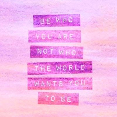 Quote Be you who are